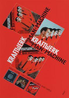 """Original Capitol promo poster for Kraftwerk 1978 Tour, size 30""""x20"""". Design by Karl Klefisch."""