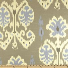 Home Accents Caftan Ikat Dove Grey  $17.98 per yard. Fabric.com