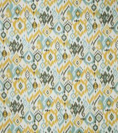 Upholstery Fabric-Tropix Leaf Dance Stone Blue