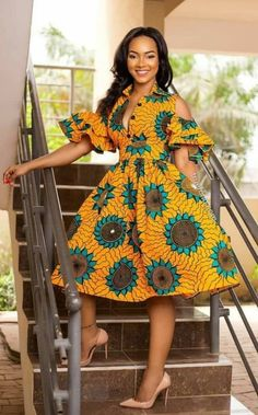 African print fashion dresses African clothing for women/ African prints dress for prom / African Fashion Designers, African Print Fashion, Africa Fashion, Modern African Fashion, African Inspired Fashion, Tribal Fashion, African Attire, African Wear, African Women