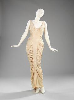 """""""La Sirène,"""" Charles James, 1951-52, silk. Length at CB: 59 in. -The Metropolitan Museum of Art"""