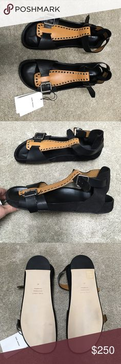 Isabel Marant gladiator sandals.  never worn! Isabel Marant black and brown leather never worn comes with box. Isabel Marant Shoes Sandals