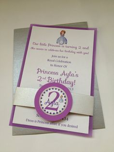 Sofia the First Birthday Party Invitations