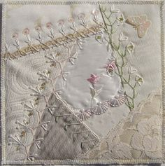 I ❤ crazy quilting & embroidery . . .  Fabric bookpage for Birgit ~By Ati,  Norway