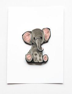 Elephant Nursery Art Print Nursery Decor Kids by ofthingspretty