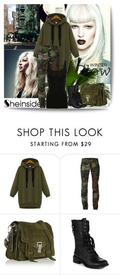 """Sheinside"" by dina123-1 ❤ liked on Polyvore featuring Harvey Faircloth, Proenza Schouler and Sam Edelman"