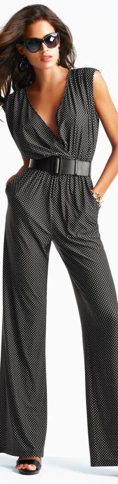 Women's fashion | Business attire | Grey jumpsuit  women fashion outfit clothing style apparel @roressclothes closet ideas