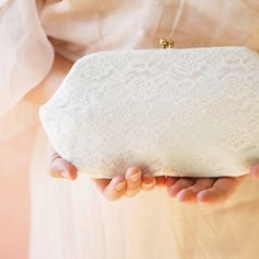 white lace vintage clutch