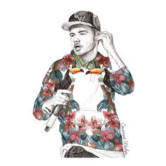 Liam Payne Floral Art Print ($15) ❤ liked on Polyvore featuring home, home decor, wall art, draw, liam payne, one direction, floral wall art, floral home decor and payne