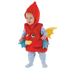 Baby & Toddler Red Fish Costume, Halloween One Step Ahead Baby