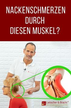 Neck pain from this muscle! - Today we will tell you which muscle is responsible for your tense neck area and how you can get it - Fitness Workouts, Yoga Fitness, Physical Fitness, Fitness Motivation, Health Fitness, Hiit, Tight Neck, Eco Slim, Senior Fitness