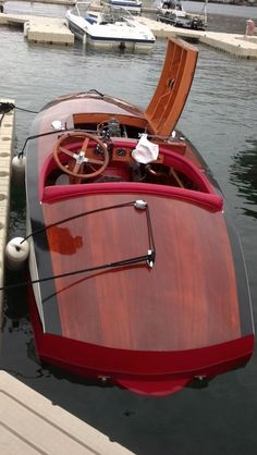 Classic Race Boat at Lake Chelan