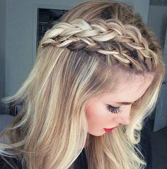 Double-Dutch is for more than just the playground. Try this Double-Dutch braid by Barefoot Blonde for a glam prom hairstyle for short hair.