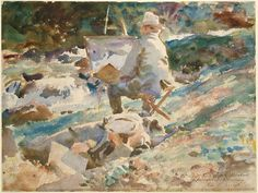 An Artist at His Easel by John Singer Sargent