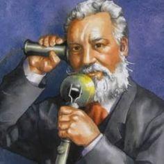 Alexander Graham Bell - 1847 in Edinburgh, Schottland geboren. US-amerikanischer Sprechtherapeut, Erfinder, Großunternehmer. 1876 meldete Bell sein Telefon zum Patent an.