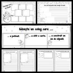 Despre vacanța de iarnă Bingo, Sheet Music, Floor Plans, Diagram, 8 Martie, School, Anime, 1st Grades, Cartoon Movies