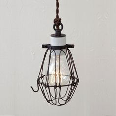 Basic Wire Bulb Cage Rust now featured on Fab. Hilary Nagler, Mercantile Rx
