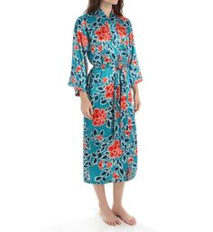 7e8b377ec3 N by NATORI RUSSIAN FLORAL WRAP ROBE WOMENS SIZE MEDIUM STYLE XC4019 NEW  NWT  68. Lingerie GownLuxury LingeriePajamasFloral ...