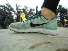 Zapatillas de un corredor.