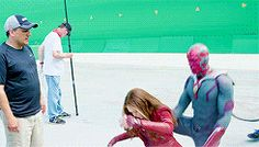 Wanda: Vision, is that your hand on my ass? Vision: It was an accident. Wanda: Vision, your hand's still on my ass. Vision: … Vision: It's still an accident (x)
