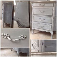 French chest of drawers, painted  beautifully in Annie Sloan Paris Grey