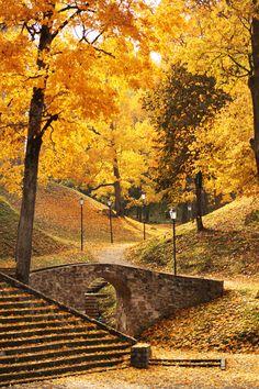 autumn in Cesis,Latvia #autumn #park #Latvia #yellow
