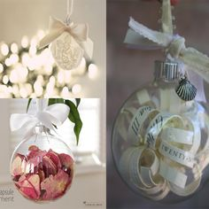 Ideas for reusing items from your wedding day for Christmas!