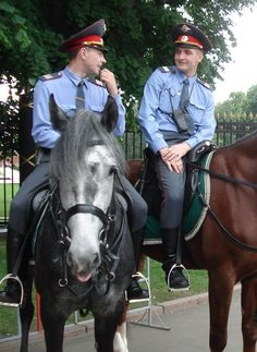 Russian mounted police