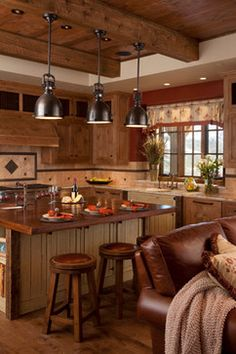 Spanish Peaks House - rustic elegance at its best rustic kitchen