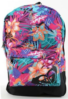 Roxy Tropical Geo Juniors Full Size Canvas School Backpack Hello Kitty  Backpacks 94d6d43b56ca6