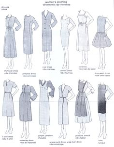 Fashion Vocabulary: Tradational Dresses& Names, via Fashion Terminology, Fashion Terms, Fashion History, Fashion Art, Vintage Fashion, Fashion Events, Fashion Infographic, Fashion Dictionary, Fashion Vocabulary