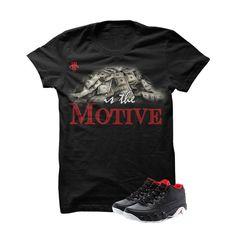 Jordan 9 Low Bred Black T Shirt (Money Is The Motive)