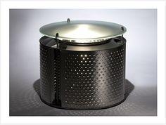 Ideas: una lámpara reciclada a partir de un tambor de lavarropa