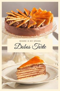 One of the best cakes ever: traditional Hungarian Dobos Torte with several layers of pastry and chocolate buttercream and a sinfully delicious caramel topping. Hungarian Desserts, Hungarian Cake, Hungarian Recipes, Hungarian Food, Hungarian Cuisine, Romanian Recipes, Austrian Recipes, Dobos Torte Recipe, Cake Cookies