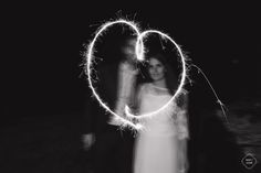 MAY JUNE PHOTOGRAPHY -heart - light painting photography - bride & groom - wedding photography - photographe de mariage