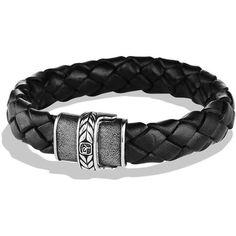 David Yurman Black Lthr Chevron Bracelet ❤ liked on Polyvore featuring jewelry, bracelets, chevron jewelry, chevron bangles, david yurman, david yurman bangle and david yurman jewelry