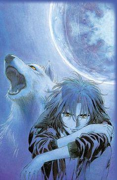 Kiba, Wolfs Rain this anime is so amazing I Love Anime, Awesome Anime, Anime Guys, Anime Wolf, Anime Manga, Anime Art, Spirit And Rain, Rain Wallpapers, Wolf Children