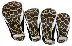 Check out our Safari Taboo Fashions Ladies 4-Pack Set Golf Club Headcovers! Find the best golf gear and accessories at Lori's Golf Shoppe. Click through now to see this!