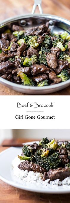 Beef & Broccoli - make it at home! from www.girlgonegourmet.com
