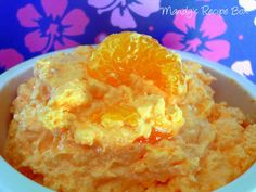 Mandarin Orange Jello Salad (or is it pudding?) Recipe ~ This is made with orange jello and vanilla pudding, so you get both tastes. Your mouth will wonder if this is jello or pudding? Either way, it's addicting and delicious! You can also use a different flavor of jello. I've made it with strawberry-banana jello and it is good!