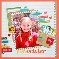 Liz Qualman's Gallery: Hello October *Simple Stories Sn@p*