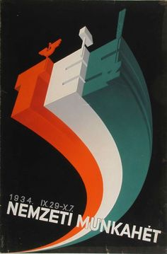 György Konecsni: National Week of Work, 1934 - Pintér Aukciósház National Week, Work Week, Eastern Europe, Hungary, World, Artist, Movie Posters, Army, Gi Joe