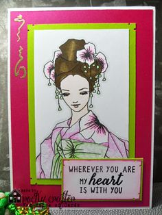 Rocky's Crafting Blog: House Of Cards Summer Blog Hop. A Day For Daisies, oriental, paper piece, digi stamp.