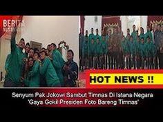 Cengiran Dahsyat Jokowi Sambut Timnas Di Istana Negara 'Gaya Gokil Presi...