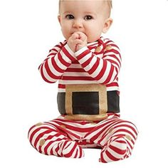 Efaster Kids Infant Baby Boy Girl Christmas Suit Romper Jumpsuit Outfits Clothes brand new and high quality. Baby Christmas Pajamas, Christmas Suit, Holiday Pajamas, Christmas Baby, Christmas Glitter, Baby Sleepers, Baby Boy Romper, Cute Rompers, Baby Rompers