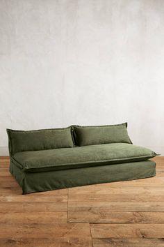 Slide View: 1: Basketweave Linen Tassa Sofa