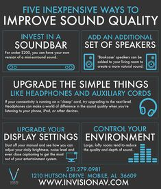 Improve your sound quality with these tips from Vision Integration Services Inc.! #GoodToKnow #VisionIntegration #SoMobile