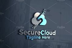Secure Cloud Data | Logo Template by REDVY on @creativemarket