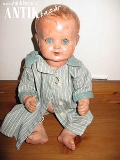 Antik Bazár Sk | starožitná bábika celuloid cena 20 euro - Predaj Euro, Face, The Face, Faces, Facial
