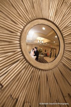 This is a popular photo choice for Sterling Ballroom brides and grooms! The unique mirrors in our halls make for great photo opportunities. www.SterlingBallroomEvents.com. Photo courtesy of Meridith Desmond Photography. #wedding #bride #groom #marriage #SterlingBallroom #TintonFalls #NJ #NewJerseyWedding #venue #ballroom #banquethall
